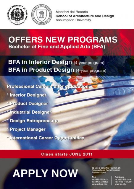 ABAC BFA Interior Product Design faculty POSTER