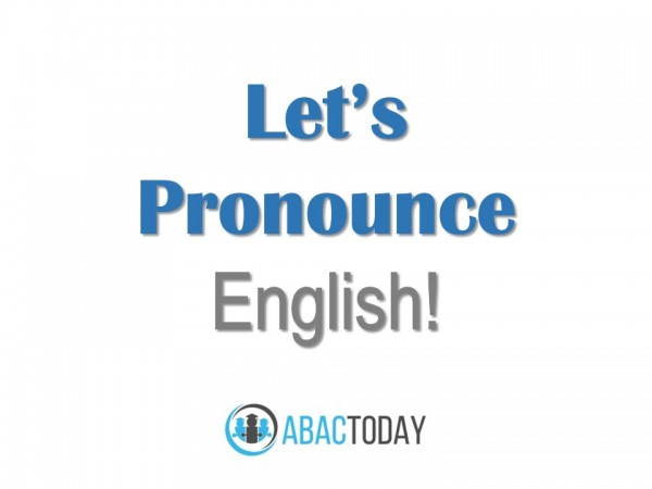 Let's Pronounce English