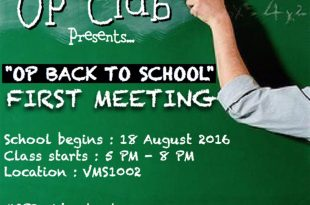 OP Club First Meeting